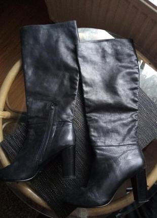 Сапожки кожаные