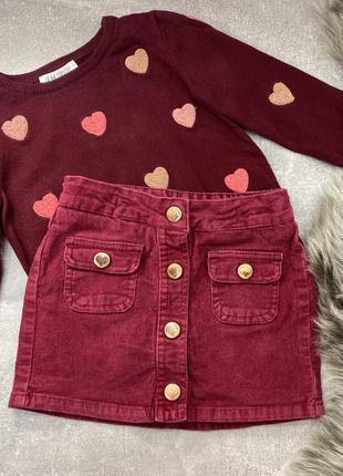 Набор для девочки юбка и джемпер