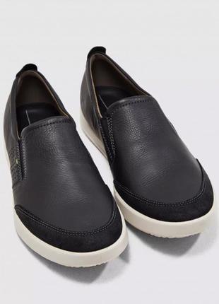 Мужские слипоны ecco туфли ecco оригинал, р.42