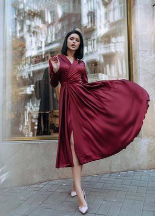 Шёлковое миди платье