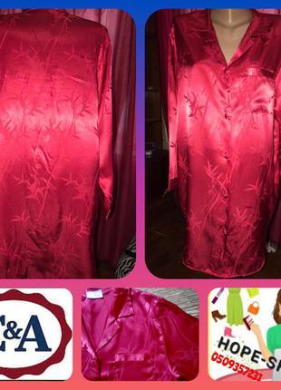 Сатиновая темно красная сорочка,ночная рубашка 44/52