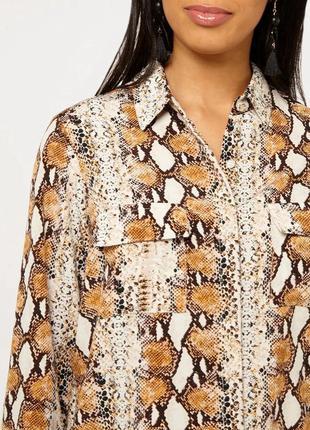 Рубашка змеиный принт dorothy perkins