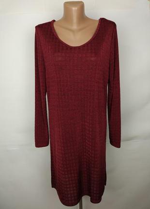 Платье бордовое эластичное красивое tu uk 12/40/m