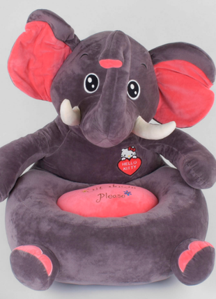 """Яркое мягкое кресло """"слоник"""" c 44357 для вашего ребенка, высота 65см"""