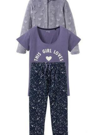 Пижама, домашний костюм тройка м 40 42 euro esmara германия звезды