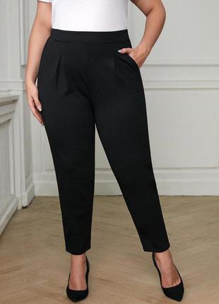 Чёрные штаны, брюки батал