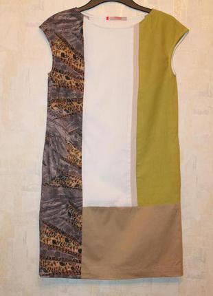 Хлопковое платье кокон dolcedonna (дизайнер елена голец). платье с карманами