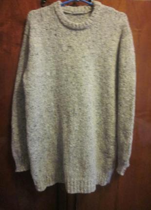 Теплый удлиненный шерстяной свитер-туника cos размер l