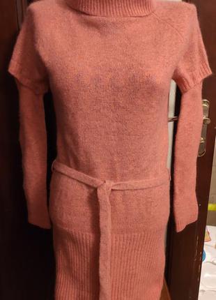 Свитер-платье ангора р.42-44 люрекс