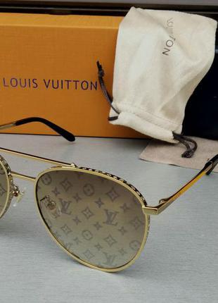 Louis vuitton очки капли унисекс солнцезащитные с логотипом бренда на линзах