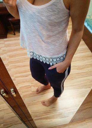 Стильные тонкие брюки с лампасами и карманами, 12-16