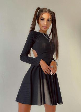 Платье с открытой спинкой🖤