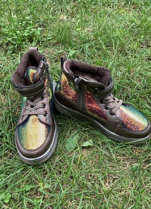 Демисезонные ботинки для девочек,31,32,33,34,35,36,киев