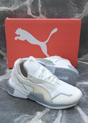 Женские кроссовки puma hybrid future белые, осенние