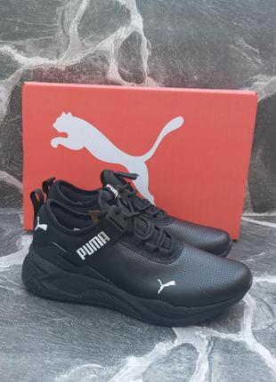 Женские кроссовки puma ignite черные, кожаные