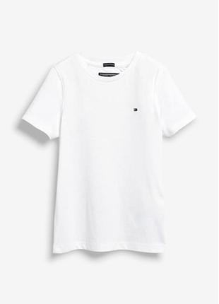 Белая базовая футболка tommy hilfiger