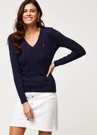 Оригинальный хлопковый пуловер polo ralph lauren m/l