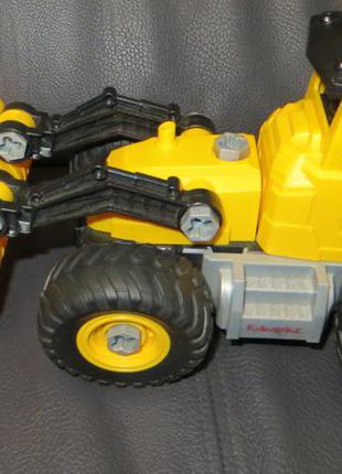 Конструктор кidwerkz бульдозер, трактор 2 в 1, 3+