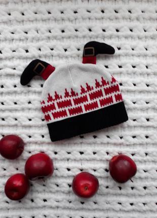 Новорічна новогодняя рождественская різдвяна шапка one size