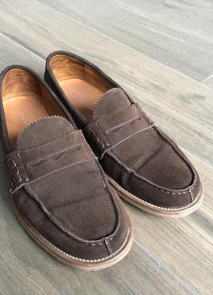 Замшевые туфли лоферы tommy hilfiger