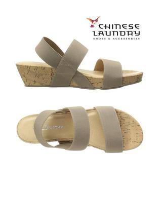 Chinese laundry оригинал босоножки сандалии на резинках платформе бренд из сша
