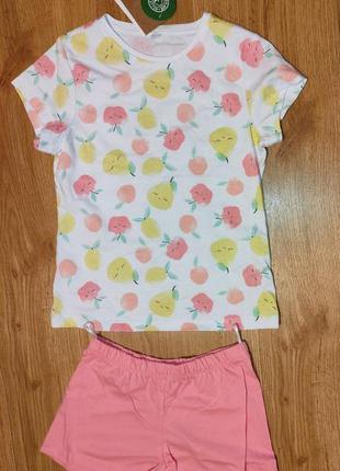 Комплект футболка+шорты (пижама) для девочки, c&a