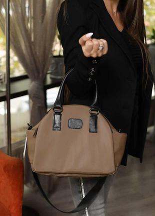 Женская сумка среднего размера мокко сумка жіноча сумка кофейная сумка