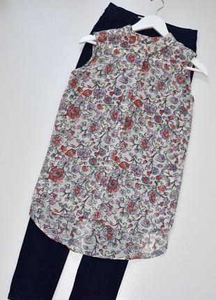 Sale h&m красивая блуза с принтом и перламутровыми пуговками