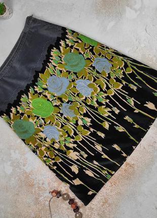 Юбка миди красивая стильная в принт оригинал ted baker 3 uk 14-16