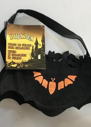 Тематический аксессуар фетровая сумка для сладостей на хэллоуин