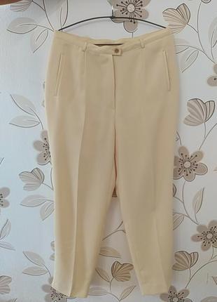 Брюки женские штаны высокая талия желтые  camaieu