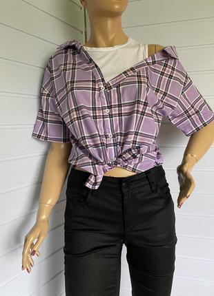 Рубашка топ на одно плечо