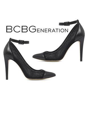 Bcbgeneration оригинал туфли лодочки кожаные с прозрачными вставками бренд из сша