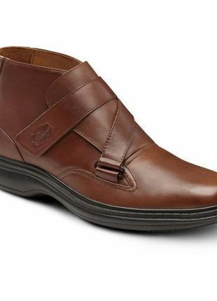Комфортные кожаные ботинки на широкую ногу большого размера