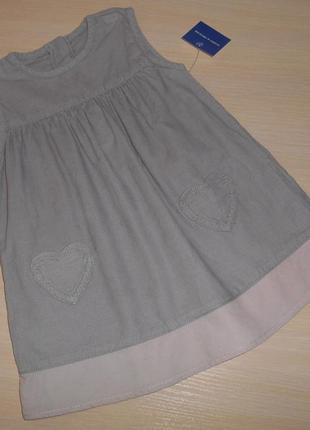 Платье, сарафан marks & spencer, катон, 9-12 мес, 80 см, оригинал