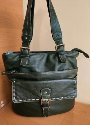 Кожаная сумка от laura ashley
