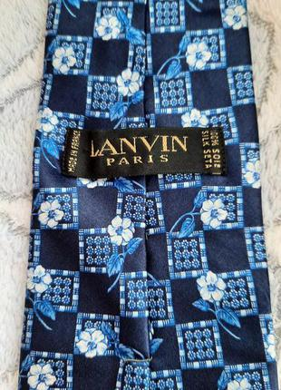 Шёлковый галстук lanvin