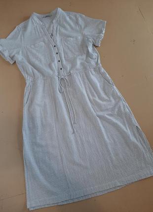 Натуральное платье с карманами (котон- вискоза)