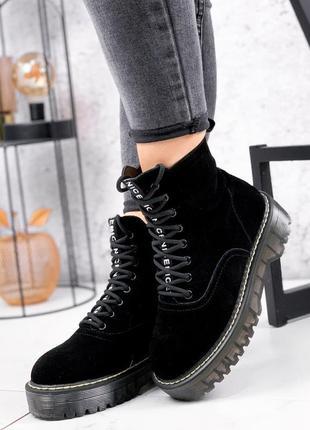 Ботинки женские новые верх из натуральной замши в наличии