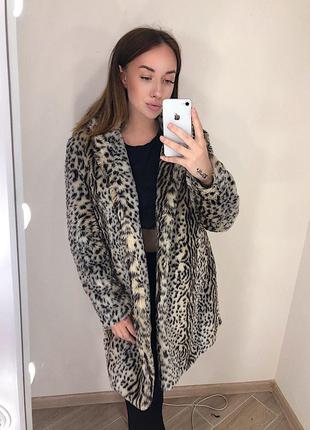 Шикарная леопардовая шуба оверсайз
