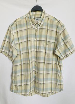 Рубашка в клетку с коротким рукавом lacoste оригинал