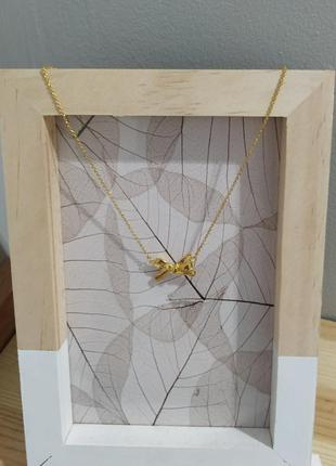 Позолоченная цепочка kate spade new york колье подвеска бантик ожерелье asos золотистое