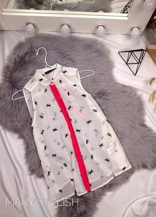 Блузка в принт коты