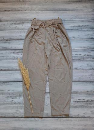 Классические широкие свободные брюки с поясом ремнём тренд