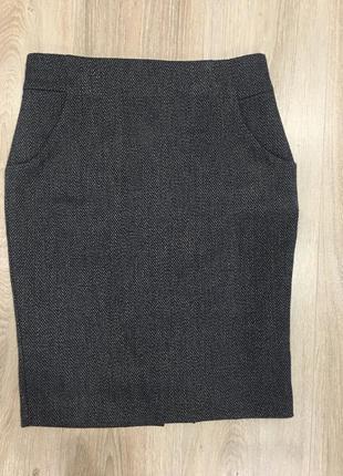 Юбка карандаш с карманами