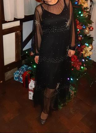 Фатиновое платье со звездами