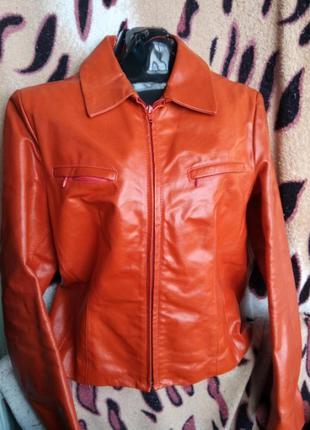 Кожаный пиджак короткий натуральная кожа куртка короткая vera pelle шкіряний жакет