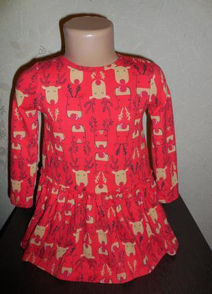 Платье f&f котон- стрейч, 2-3 года