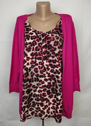 Блуза кофточка пуловер красивая большой размер marisota uk 20-22