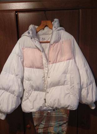Крутая дутая куртка zara